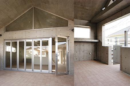 世田谷U邸新築工事・コンクリート打ち放しの家の部屋 玄関ポーチ