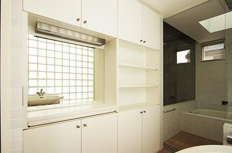 世田谷U邸新築工事・コンクリート打ち放しの家の部屋 浴室・洗面