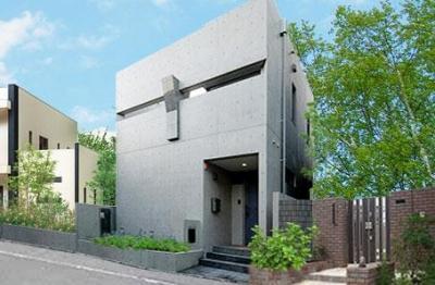 大田区Y邸新築工事・コートハウス(中庭)のある家 (外観)