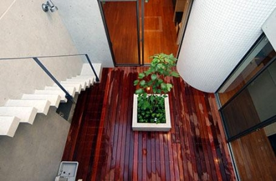 1階中庭 (大田区Y邸新築工事・コートハウス(中庭)のある家)