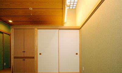 和室|大田区Y邸新築工事・コートハウス(中庭)のある家