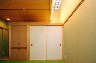 大田区Y邸新築工事・コートハウス(中庭)のある家 (和室)
