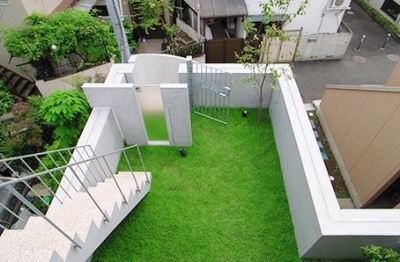 原町S邸新築工事・屋上庭園のある家 (屋上庭園)