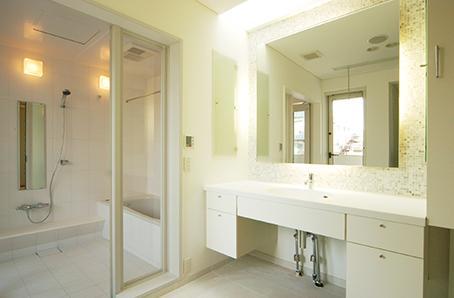 江東区O邸新築工事の写真 浴室・洗面