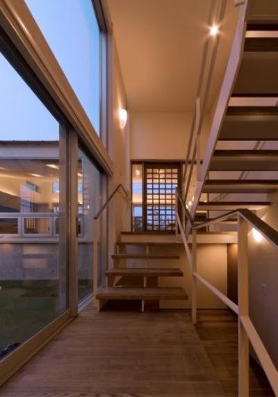 階段室 (津のコートハウス)