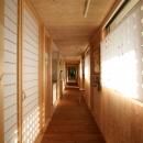 外回廊と並行する廊下