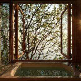 海の崖っぷちのSOHO (浴室-両開戸)