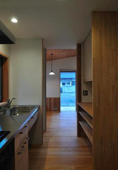 安曇野の家2 (キッチン)