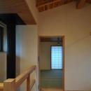 2階多目的ホールより寝室を見る