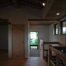 2階多目的ホールより階段室を見る