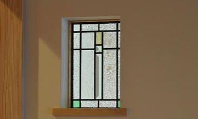 安曇野の家2 (玄関ホールのステンドグラス)