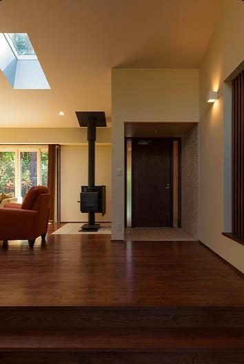 蓼科の家の部屋 玄関ホール