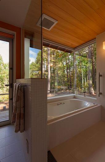 蓼科の家の部屋 浴室