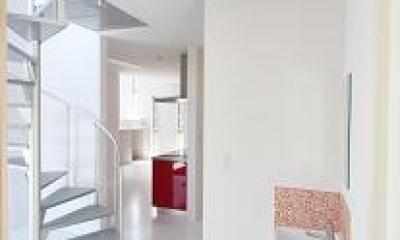 豊山町の家 (螺旋階段・洗面コーナー)