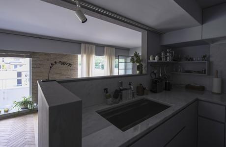 星ヶ丘のリノベーションの部屋 キッチン(撮影:多田ユウコ写真事務所)