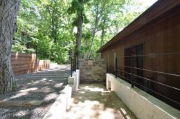 大きな栗の木の下の家 (玄関アプローチ)