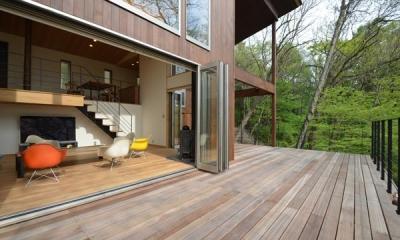 ウッドデッキテラス1|大きな栗の木の下の家