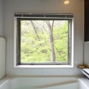 大きな栗の木の下の家の写真 浴室