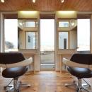 鎌田賢太郎の住宅事例「美容室と光庭の家」