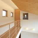 美容室と光庭の家