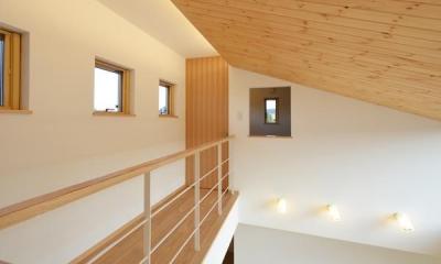 美容室と光庭の家 (吹き抜け)