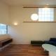 高窓のあるリビング2(撮影:m iwanami) (HOUSE sky 〜2つ屋根の家〜)