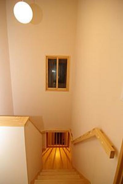 4人と1匹の日向ぼっこ (階段)