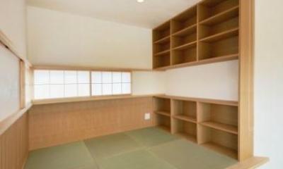和モダンの家 (書斎スペース)