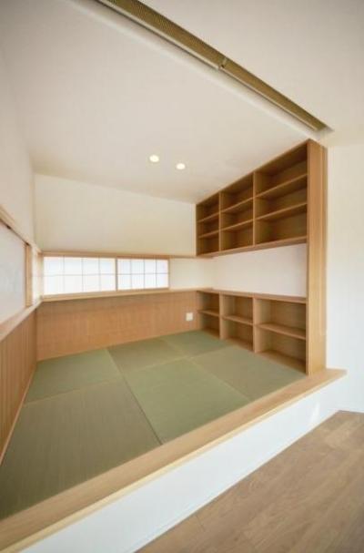 書斎スペース (和モダンの家)