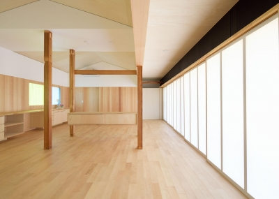 稲美町の離れ DETACHED ROOM in Inami (リビング-closed)