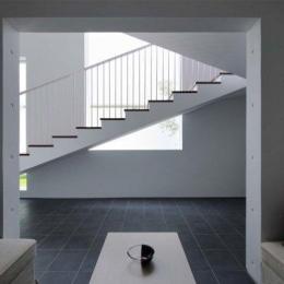 Tender concrete (客間より階段を見る(撮影:杉野圭建))