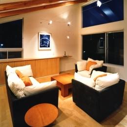 江古田の住宅 (リビングルーム)