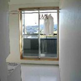 木格子の家 (大型洗面脱衣所)