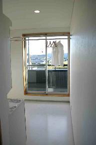 木格子の家の部屋 大型洗面脱衣所