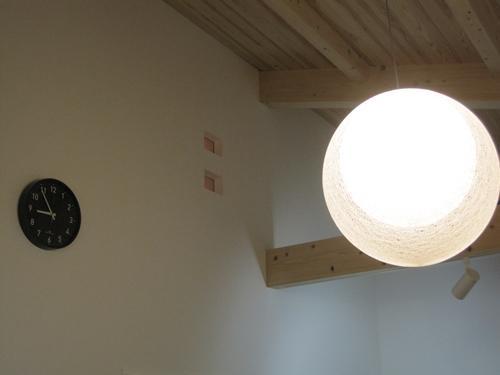 モダン和風のS邸の部屋 リビングダイニングの照明