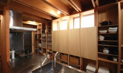 78/100 木箱・千種 (キッチン収納)