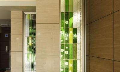 エントランス-ガラスブロック|HM賃貸マンション