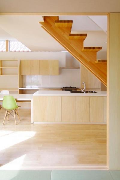 キッチン(撮影:寺嶋梨里) (西春の家)