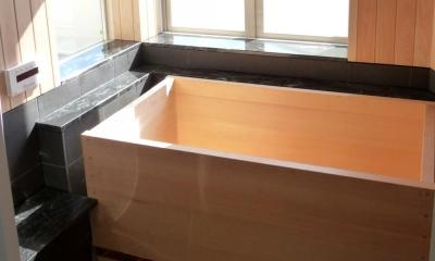檜風呂 大阪・大理石の家