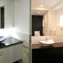 大阪・大理石の家の写真 洗面スペース2