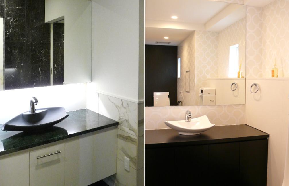 大阪・大理石の家の部屋 洗面スペース2