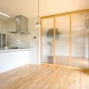 キッチン-引き戸で空間を仕切る