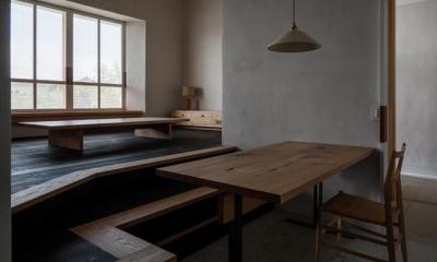 富里の家 (リビングダイニング(撮影:Ippei Shinzawa))