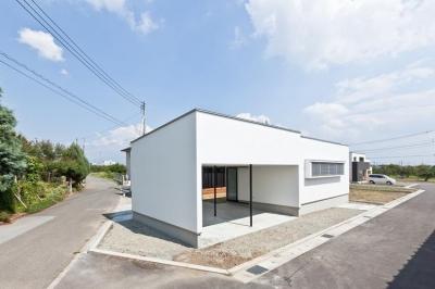 白い外観2 (桃園の家)