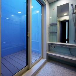 中庭を回遊する家 (浴室)
