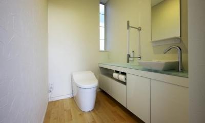 中庭を回遊する家 (トイレ)