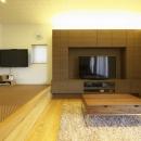 多素材の茶色い家