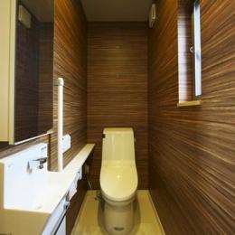 多素材の茶色い家 (トイレ2)
