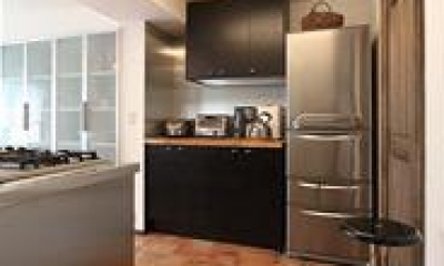 キッチン収納 アトリエにモダンリビングを N's HOME
