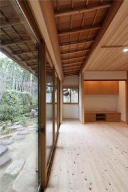 京の奥座敷 M's HOME (縁側分広くなったリビングダイニング)